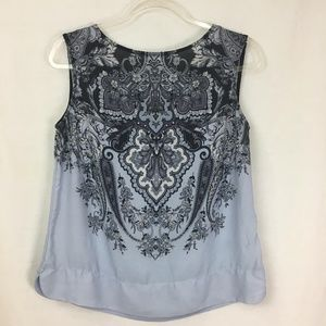 Adriana Papell Patterned Blouse Size Small